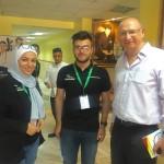 Organizers Dua Alhusni, Abdullah Dabbagh with our CEO Jamil Asali