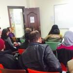 Ms Nour Al-Haymoni presenting the program