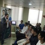 Dr. Ahmad Alsharif with the audience